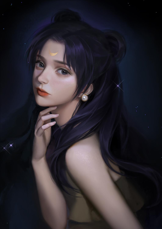 A站画师独特的唯美少女OB风插画作品137P/28.2MB