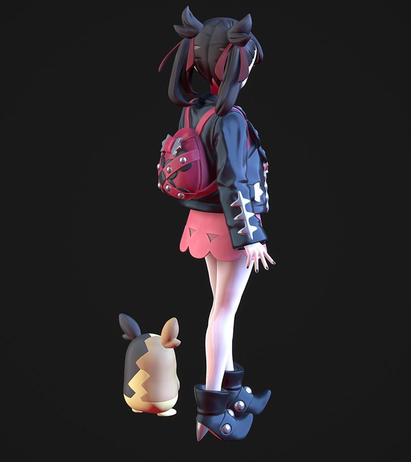 3D设计师Chenlin tsai可爱美女CG角色设计作品96P